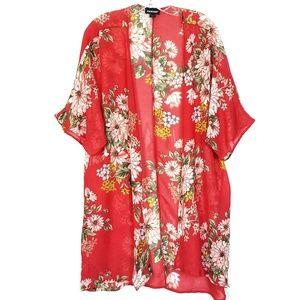 Joe Boxer Floral Print Kimono Size 1X